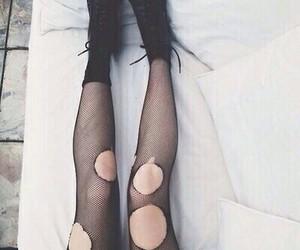 grunge, black, and legs image