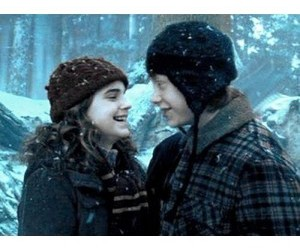 happy, harry potter, and romione image
