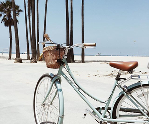 beach, bike, and summer image