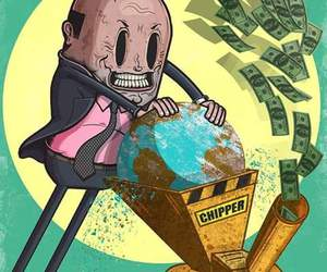 cash, destroy, and pollution image