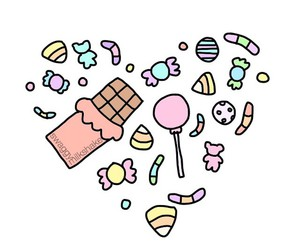 candy and overlay image