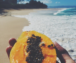 beach, fitness, and food image