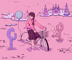 yume nikki, game, and pink image