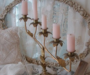 candle, pink, and vintage image