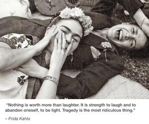 frida kahlo and happy image