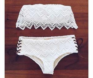 bikini, fashion, and white image