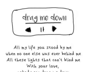 drag me down and one direction image