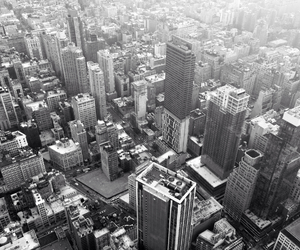 black and white, empire state building, and new york city image
