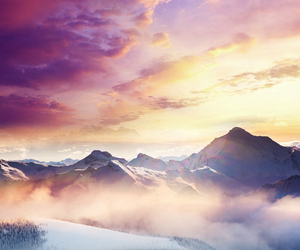 mountains, beautiful, and sky image