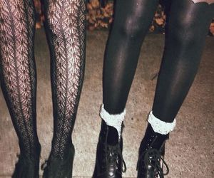 grunge, black, and tights image
