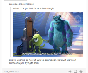 funny, joke, and monsters inc image