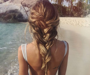 beach, style, and hair image