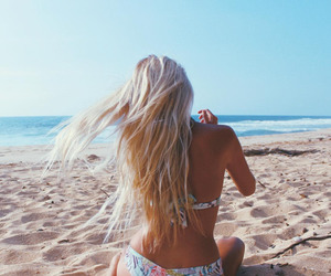 beach, blonde, and summer image