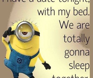 minions, sleep, and bed image