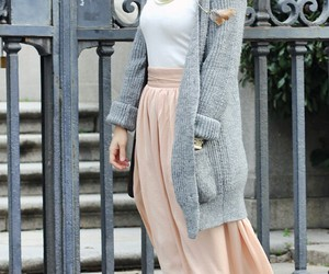 chic, maxi, and skirt image