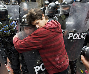 police, peace, and hug image