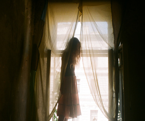 girl, vintage, and window image