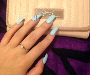 baby blue, jessica simpson, and nails image