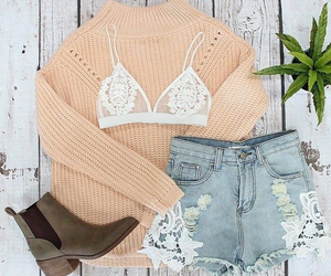 bandeau, boots, and coral image