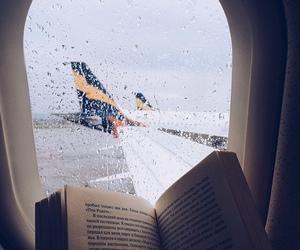 book, rain, and travel image