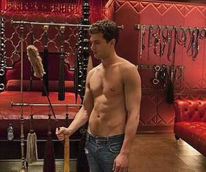 actor, Jamie Dornan, and red image