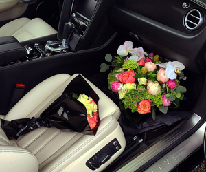 flowers, luxury, and car image