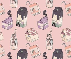 background, milks, and i image