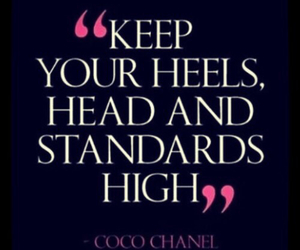 chanel, quotes, and heels image