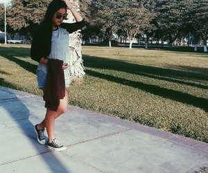 converse, girl, and H&M image