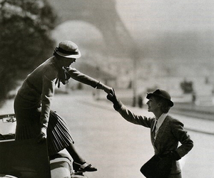 paris, vintage, and black and white image