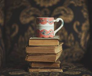 book, coffee, and cup image