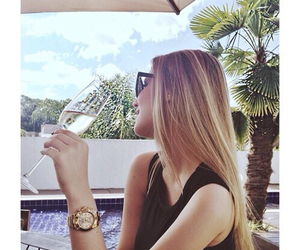 blonde, Sunny, and wine image
