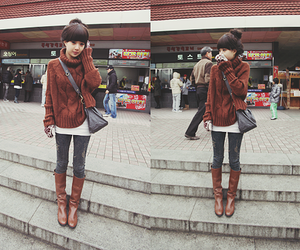 asian and boots image