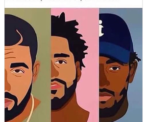 Drake, kendrick lamar, and j cole image