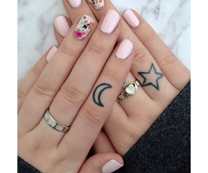 nails, pink, and Tattoos image