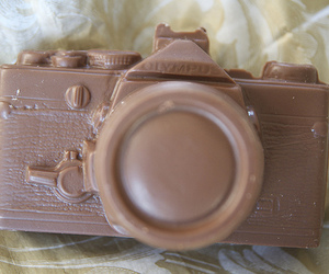 camera, chocolate, and sweet image