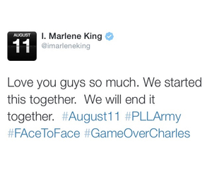 pretty little liars, pll, and marlene king image