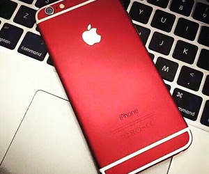 red, iphone, and love image