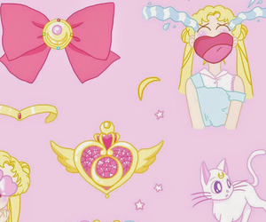 background, pastel, and sailor moon image
