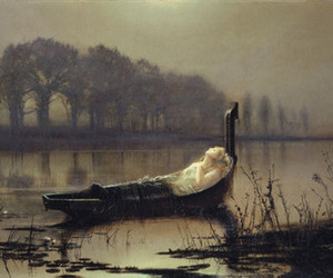 boat, water, and lady of shalott image