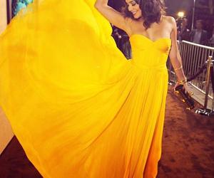 dress, yellow, and vanessa hudgens image