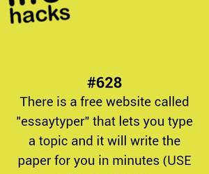 hacks, school, and study image