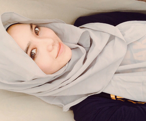 girls, hijab, and grey image