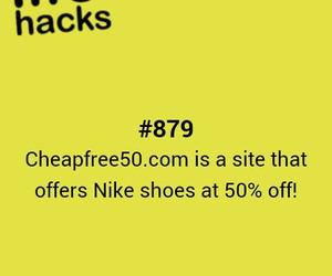 cheap, hacks, and nike image