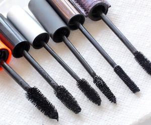 makeup, girl, and mascara image