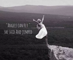 angels, jumped, and fly image