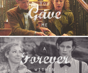 doctor who, river song, and matt smith image