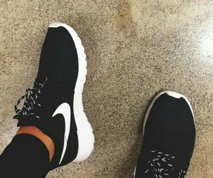 nike, black, and love image