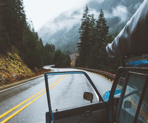 car, nature, and roadtrip image