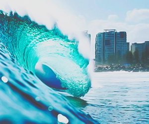 waves, water, and blue image